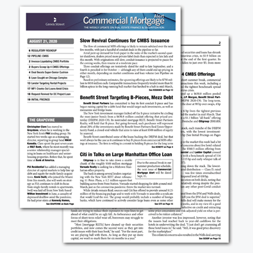 Commercial Mortgage Alert: Featured Issue